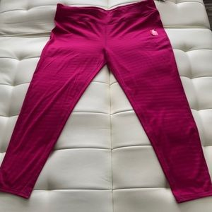 Danskin Women's Fitted Yoga Leggings Pink Sz 2XL